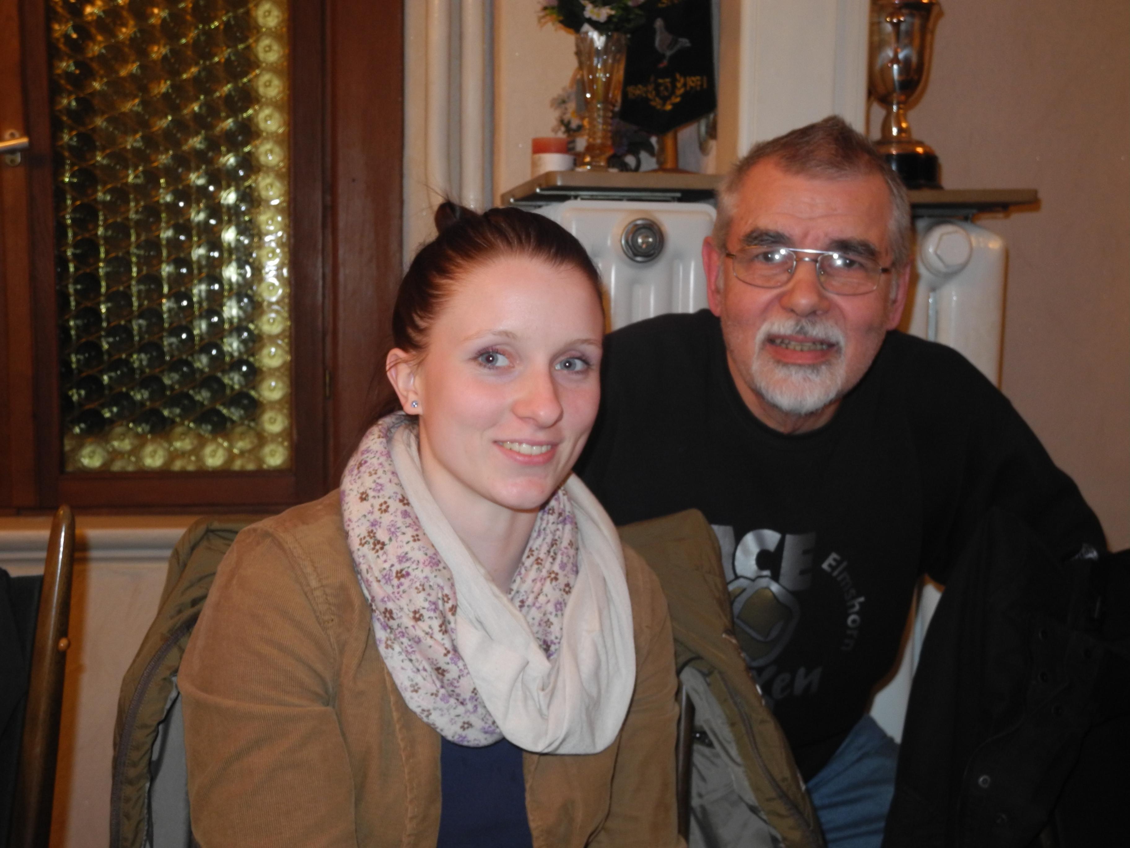 Laura Kimpel - neue AC Einigkeit-Schriftführerin, vorher seit 1966 Hartmut Rex
