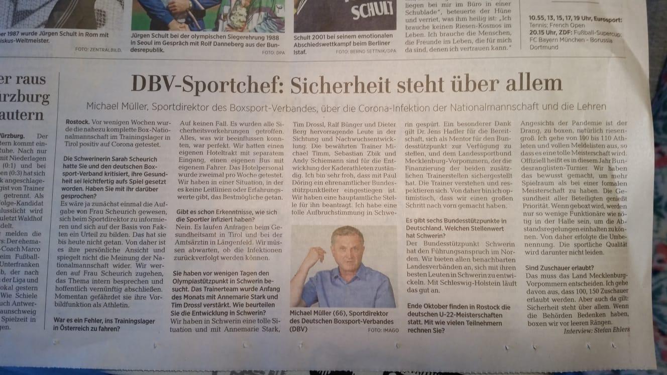 Ostsee-Zeitung / 30.09.2020